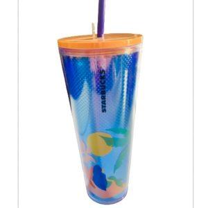 NEW Starbucks Blue Metallic Mermaid Tumbler 24oz